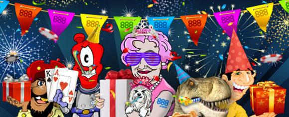 888Покер - акции на 15 летний юбилей!