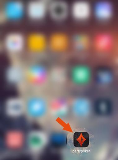 Иконка приложения Partypoker псоле установки на мобильный телефон.