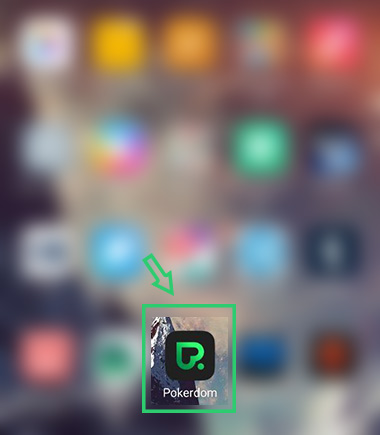 Иконка установленного мобильного приложения Покердом на рабочем столе.