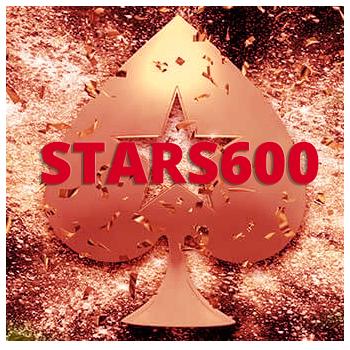 Промо-код STARS600 от рума PokerStars.
